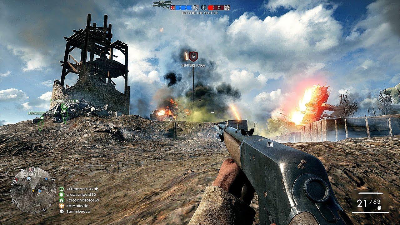 Battlefield 1 Team Deathmatch Multiplayer Gameplay PS4