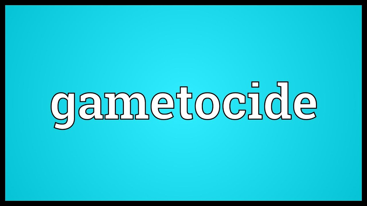 Gametocide Meaning