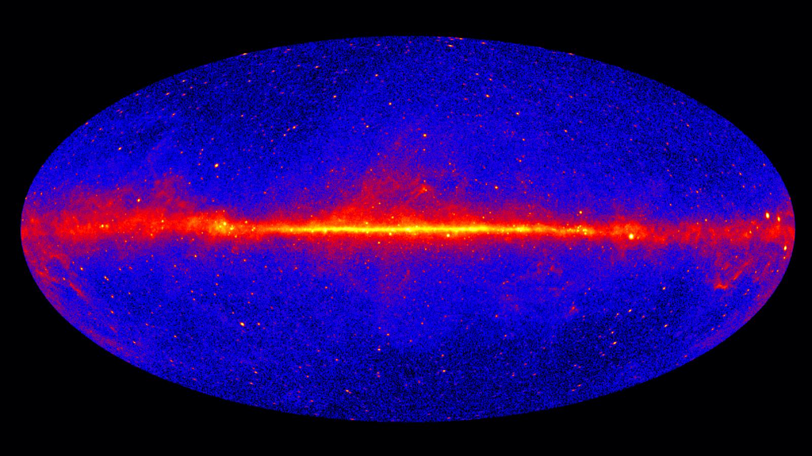 Image of Fermi LAT sky map