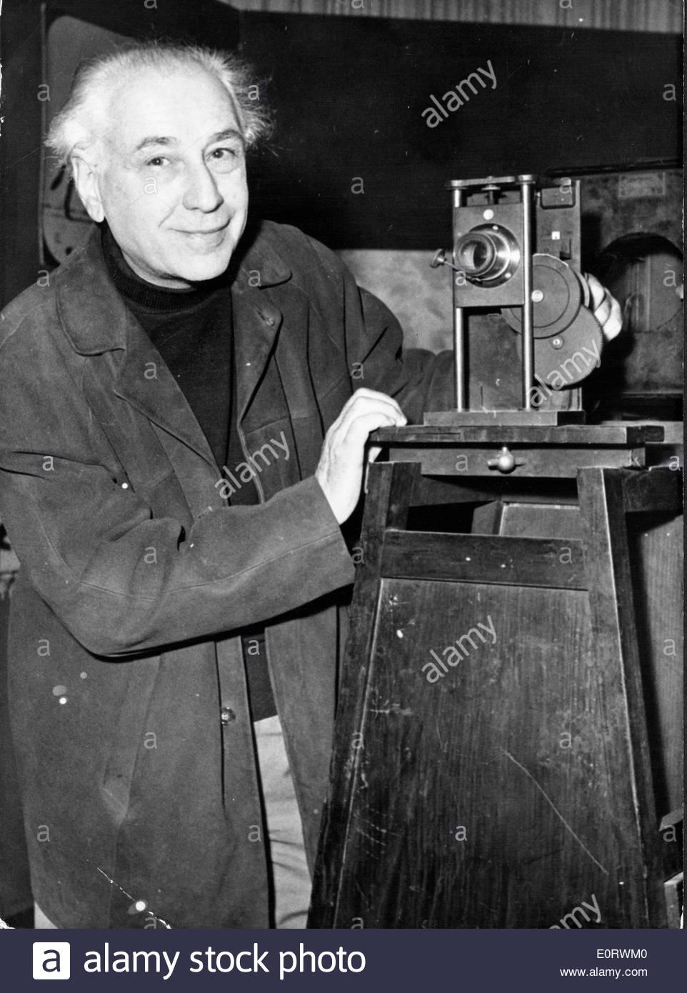 Director Abel Grance en conjunto con la cámara Imagen De Stock