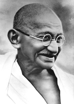 Mohandas Karmachand Gandhi was intrinsically an idealist, but historical  circumstances had thrown him in a totally pragmatic world of politics.