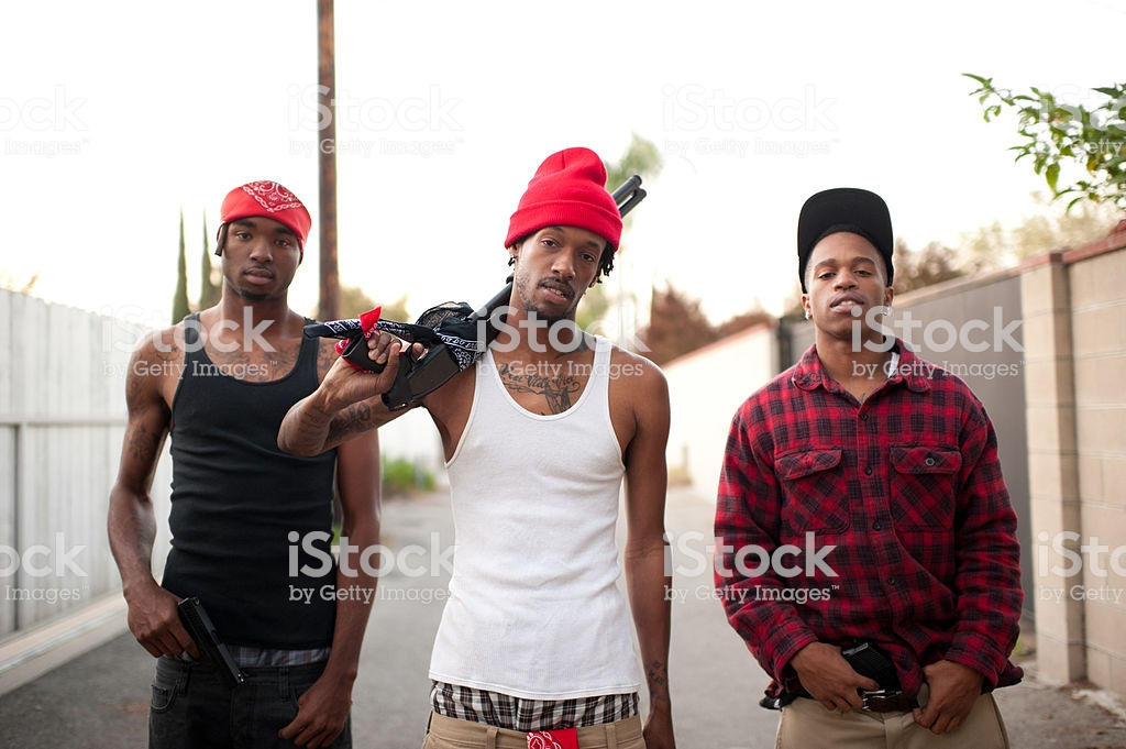gang banger with shotgun royalty-free stock photo