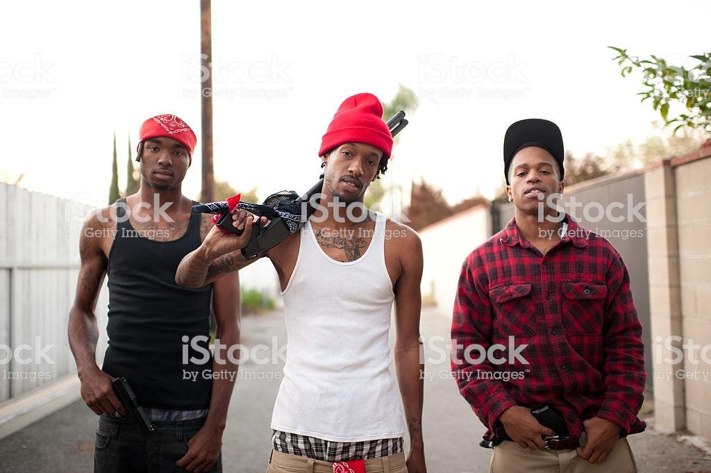 gang banger with shotgun royalty-free stock photo