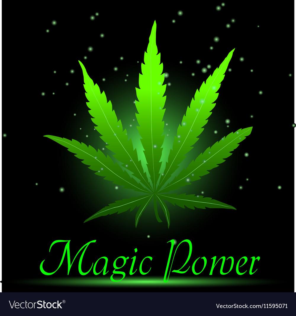 Magic ganja leaf for your design vector image