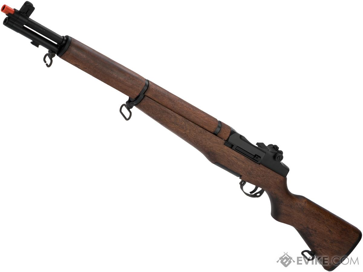 ICS M1 Garand Full Size Airsoft AEG Rifle with Real Wood Stock (Model:  Standard