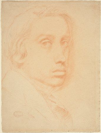 DEGAS H. G. Edgar Degas: French (Paris 1834 - 1917 ) - Self-Portrait c.  1855 Drawing