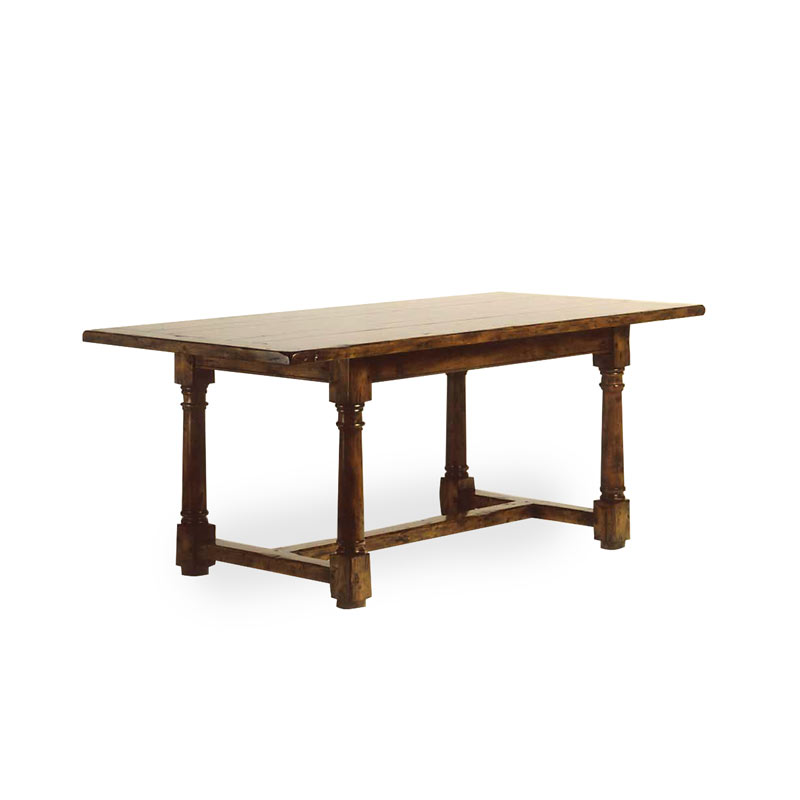 4220 - Tudor Dining Table H-Stretcher - Hyde Park Home