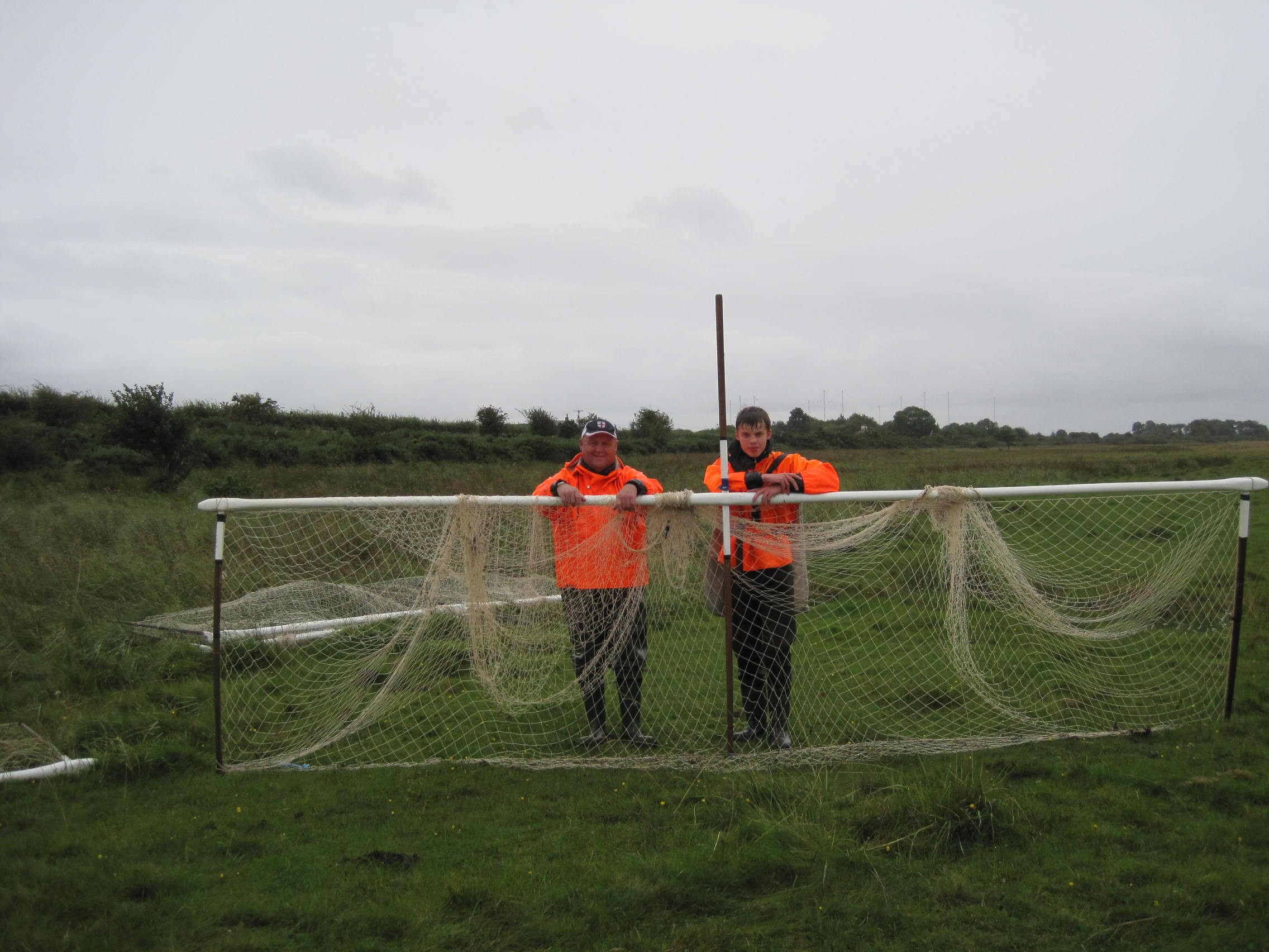 Mark Messenger and his son Ben with a haaf-net, 2011