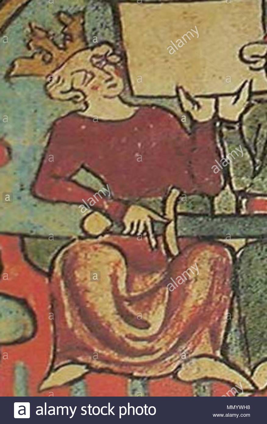 Inglés: representación de Haakon IV, rey de Noruega en Flateyjarbók. . Edad  media. CosechaSkule-Flateyjarbok HakonTheOldAnd desconocido