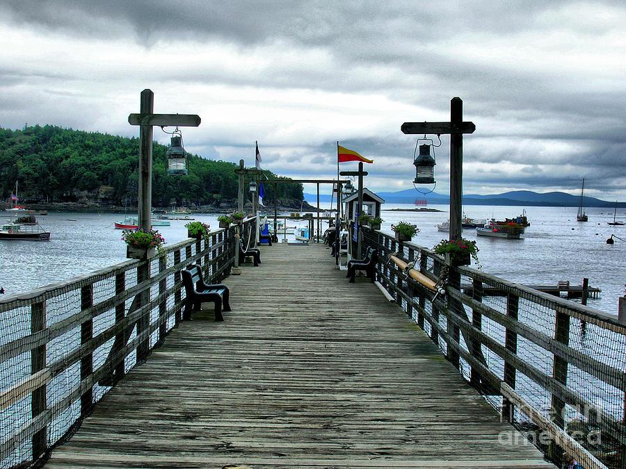 Pier Photograph - Bar Habor Pier by Nancie DeMellia
