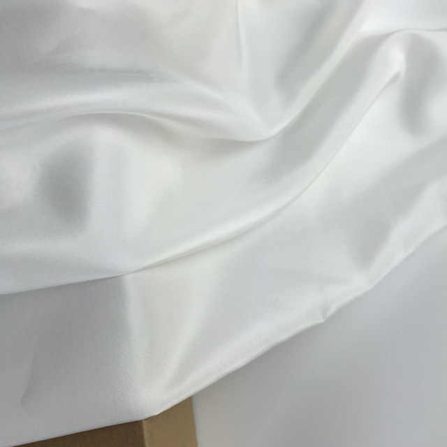 Nature White 100% Silk Habutai Fabric For Silk Lining Silk Pongee Habotai  Use Scarf 5