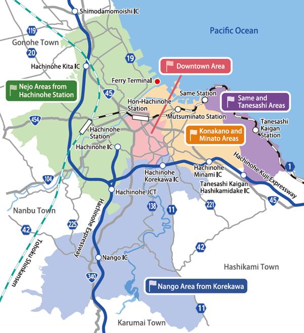 Tourist spot map
