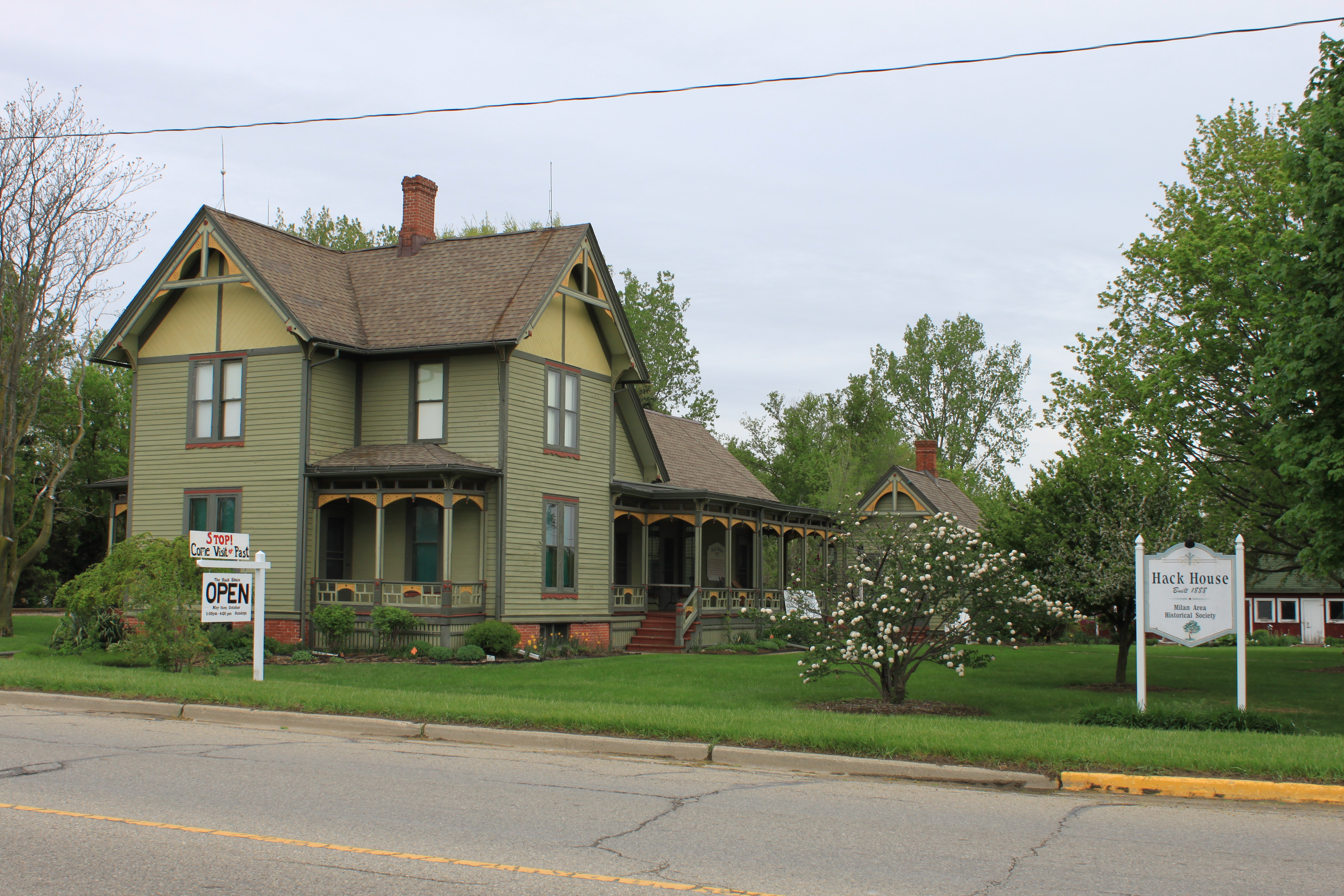 Archivo:Hack House Milan Michigan Register of Historic Places.JPG