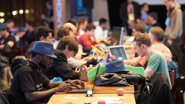 Participants at a hackathon. Photo by: JD Lasica / CC BY-NC