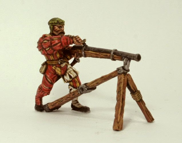 While we wait for the imminent new metals, I would like to share this  fantastic paintjob done by Stuart on the human hackbut gunner for his  Renaissance army