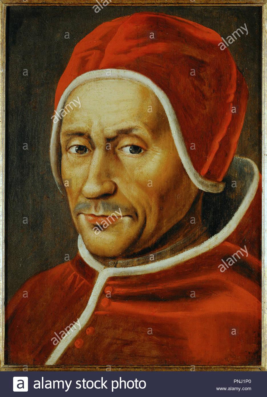 Pope Hadrian VI (Adrian Florisz,1459-1523). Copy after Jan van Scorel.  Wood,89,5 x 69,5 cm. Author: SCOREL, JAN VAN. Location: Katholieke  Universitaet