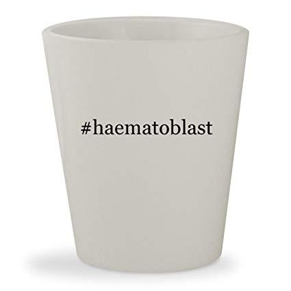 #haematoblast - White Hashtag Ceramic 1.5oz Shot Glass