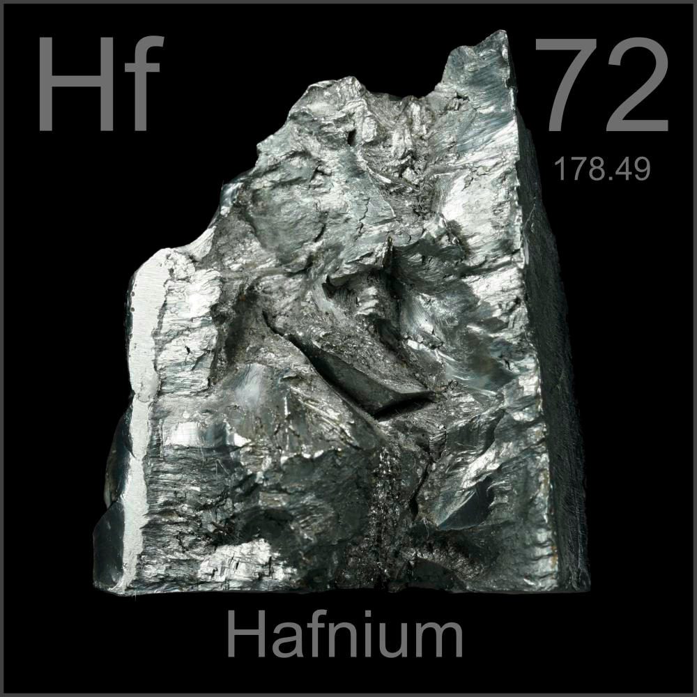 Pictures, stories, and facts about the element Hafnium in the Periodic Table