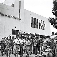 The Haganah mobilized Jewish youth for military training