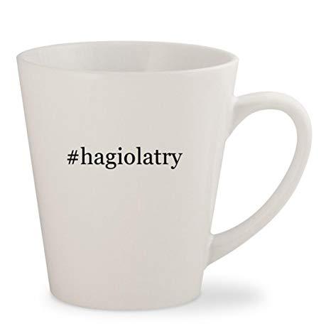 #hagiolatry - White Hashtag 12oz Ceramic Latte Mug Cup