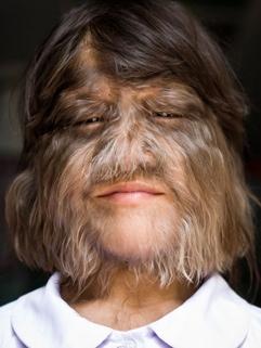 hairy-faced