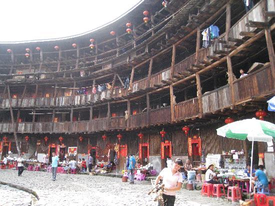 Hakka Culture Village of Yongding: Inside the larger Hakka houses