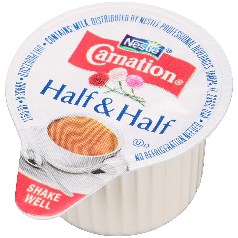 Carnation Half and Half Liquid Creamer Singles, 180 Count: Traveller Location:  Grocery & Gourmet Food