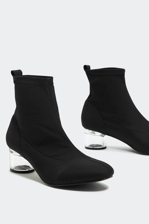 Glass Half Full Sock Ankle Boot