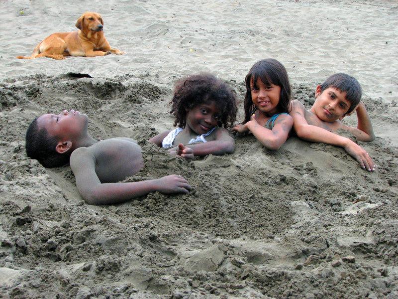 half-buried