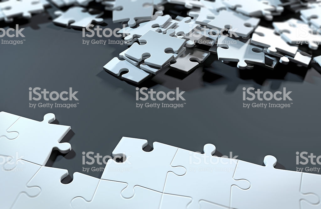 Half Completed Puzzle Finding The Solution With Missing Pieces Stock Photo  & More Pictures of 2015 | iStock