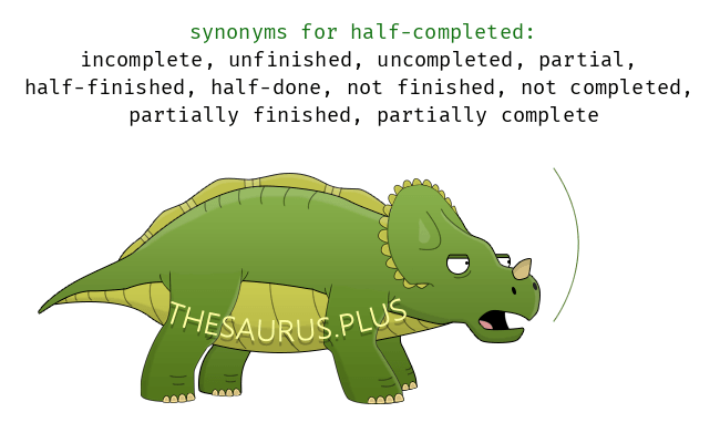 Similar words of half-completed