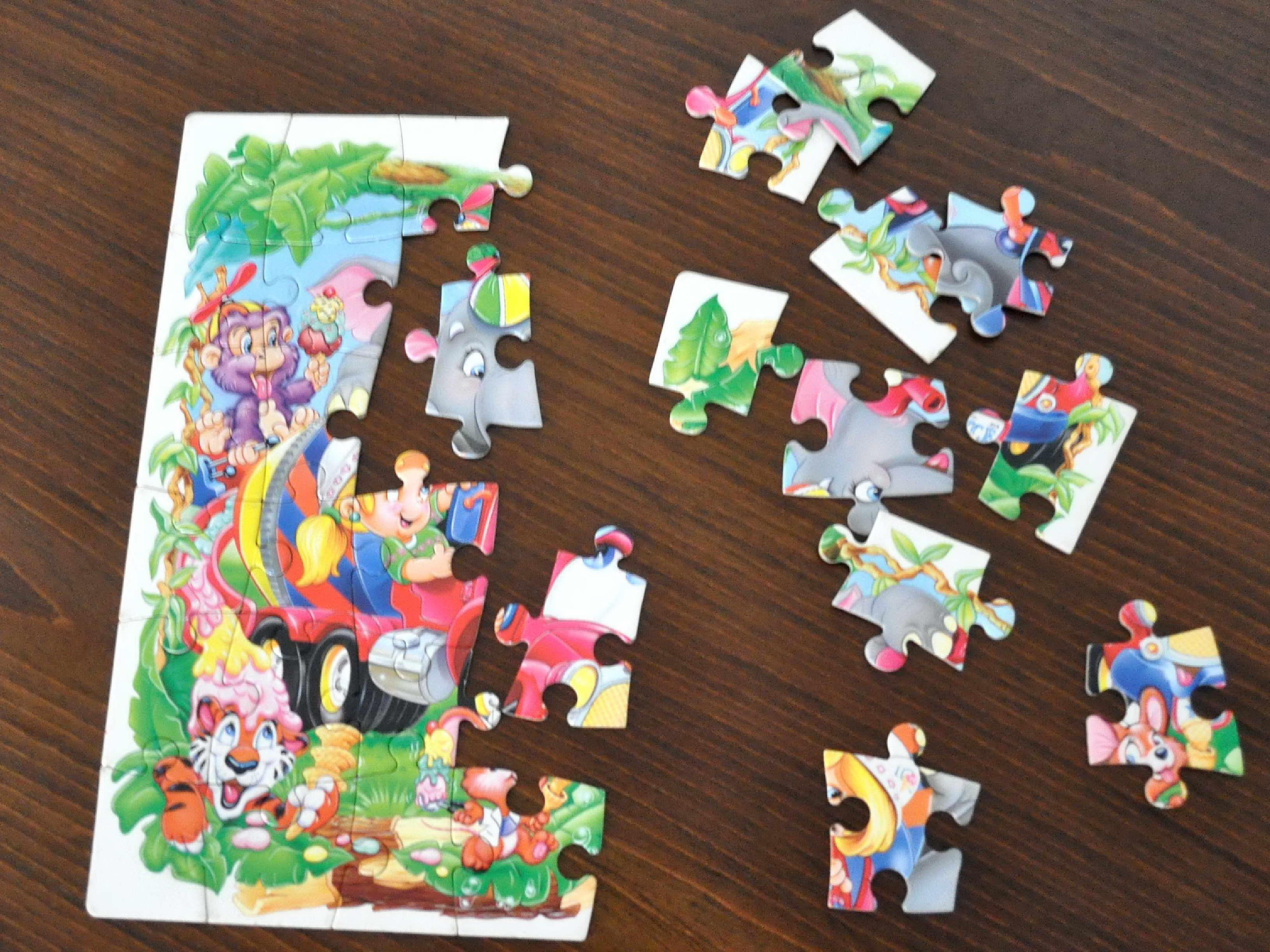completed, jigsaw, puzzle, kids