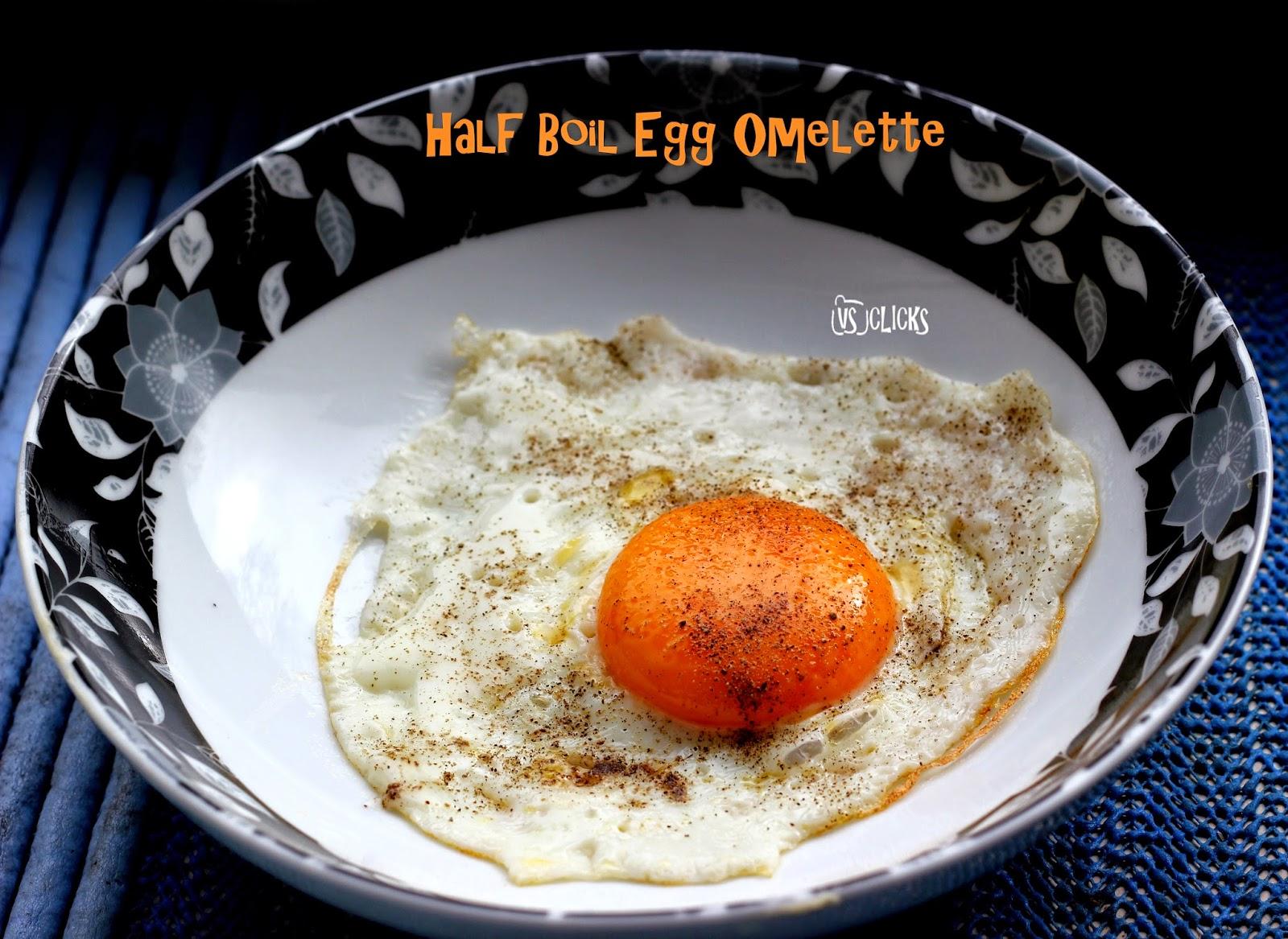 Half Boil Egg Omelette by Vinayaka Vidhya cooked on April 20, 2014