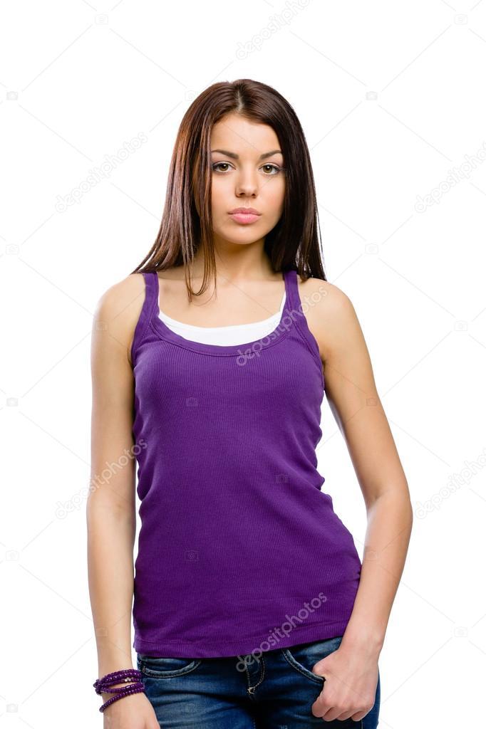 Half-length portrait of girl — Foto de Stock