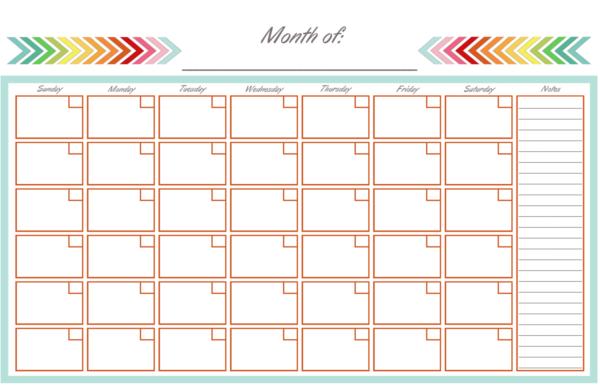 Calendar Half Page - Print & View