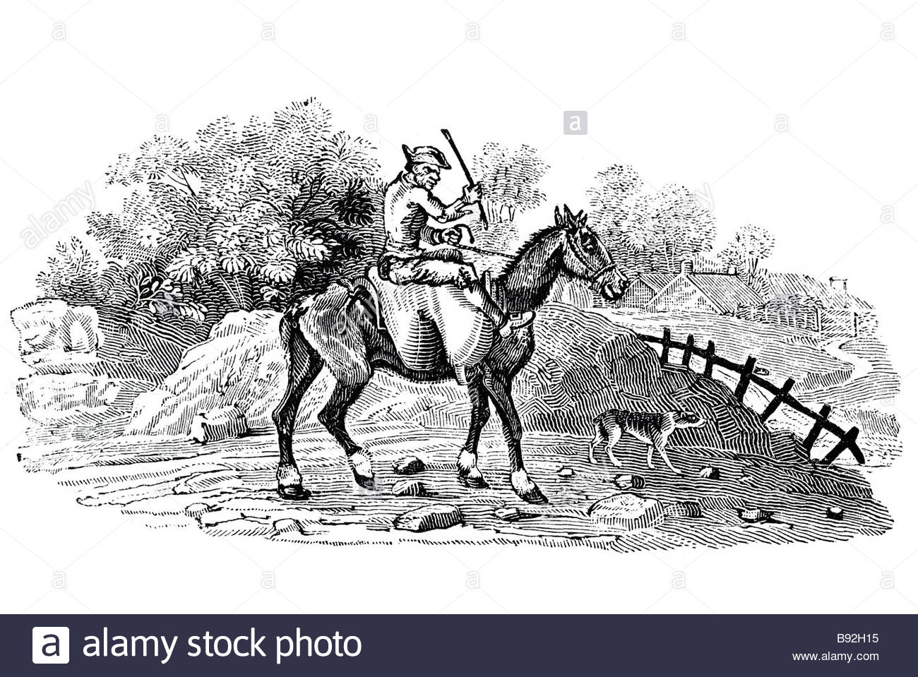 old fellow going to mill corn cruelty animal over laden half starved old  horse working beating stick miserable disshevelled Thom