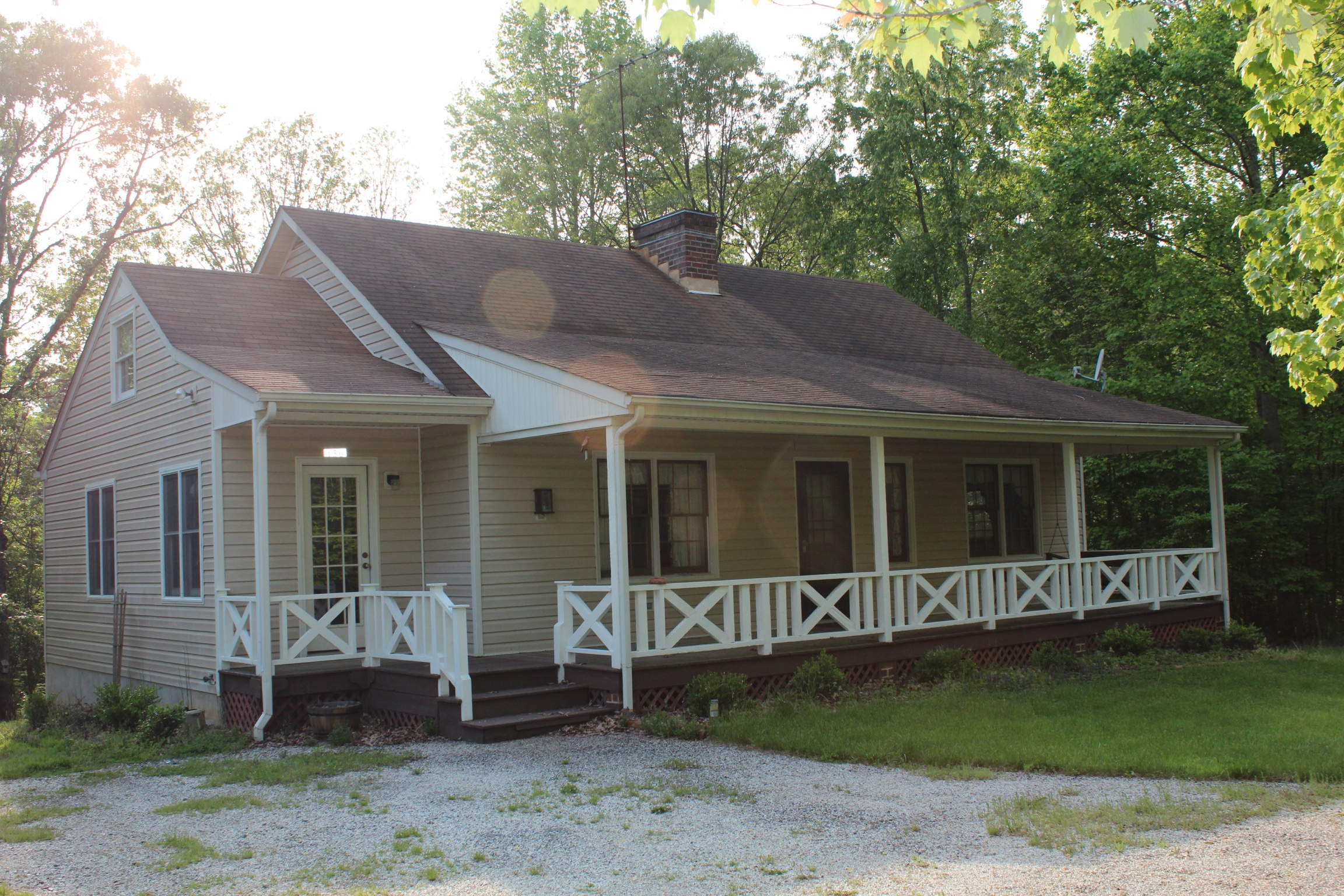 One and a half story home on 10 acres