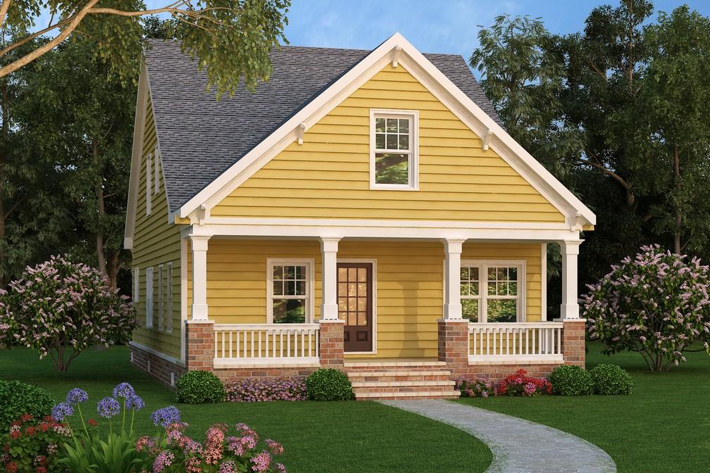 One and a Half Story Home Plans  399221d92f9de