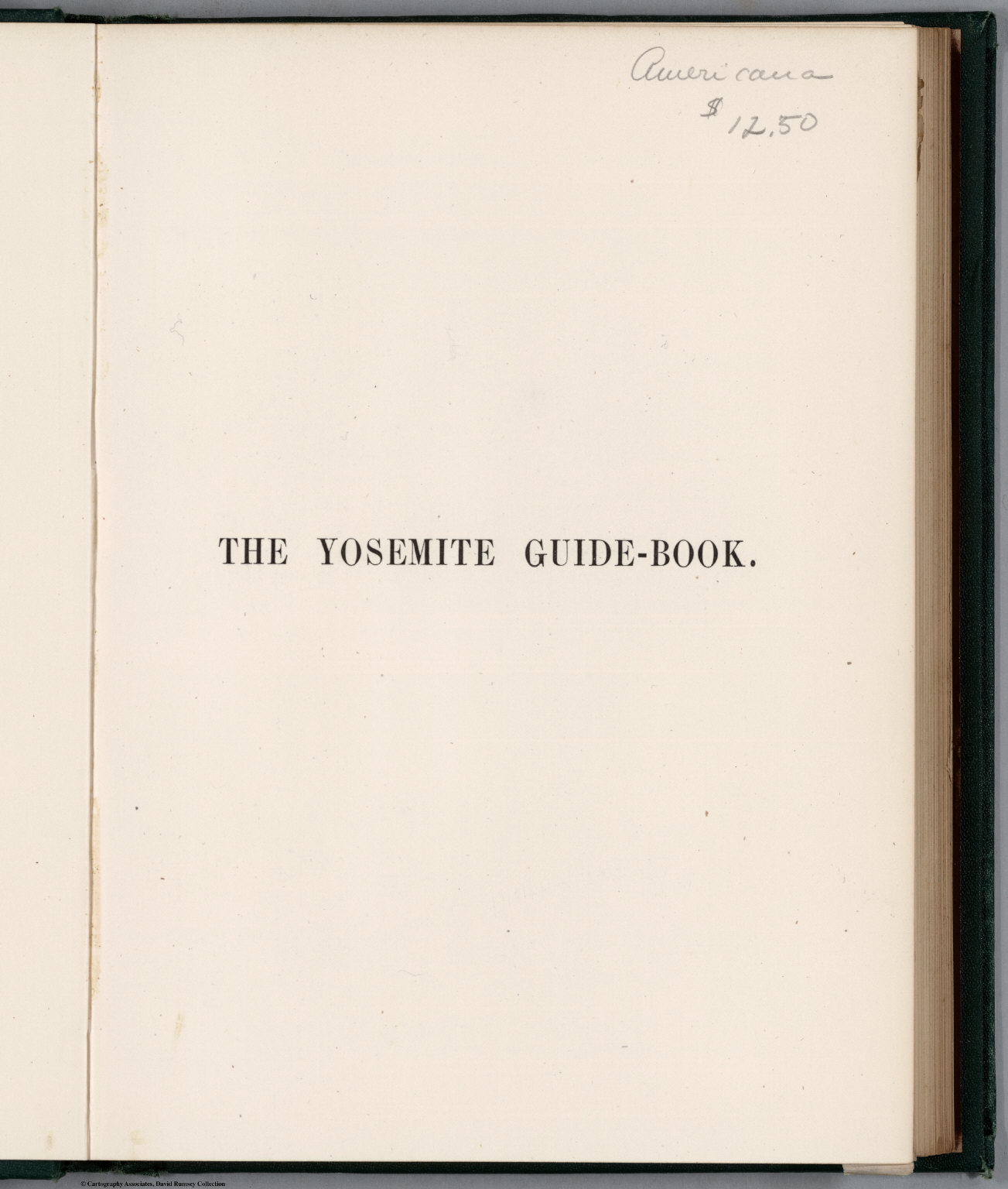 Half Title: The Yosemite Guide-Book.