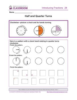 Introducing Fractions 1: Half, Quarter Turn