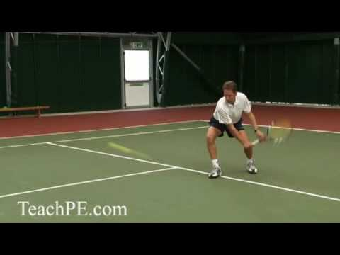 Tennis Drill - The Half Volley - Backhand