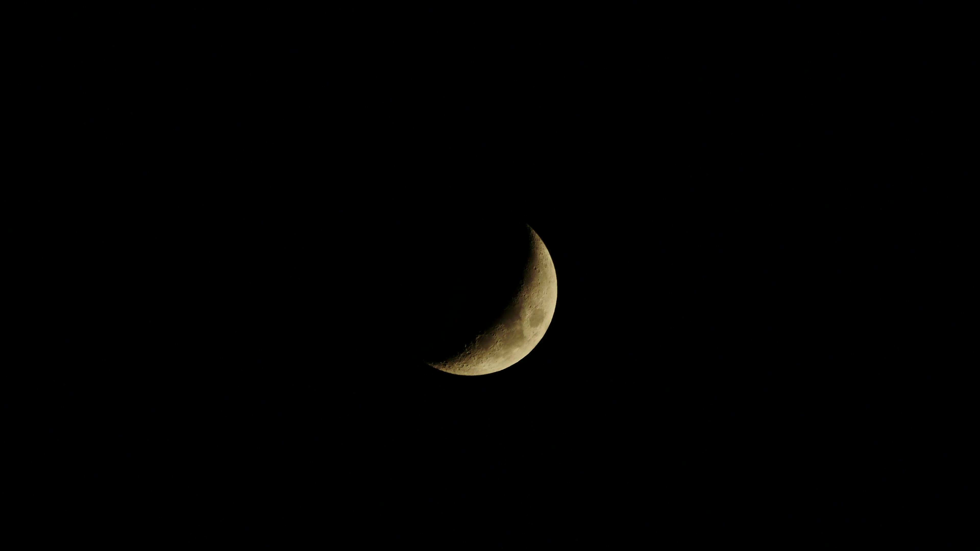 half moon. night sky. moonshine. moon light. 4K background Stock Video  Footage - Storyblocks Video