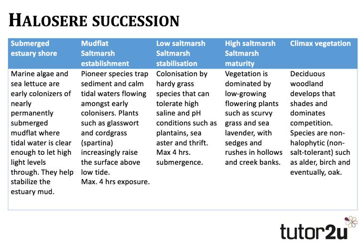 Coastal Systems - Halosere Succession