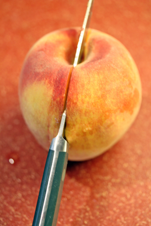 How to Halve a Peach