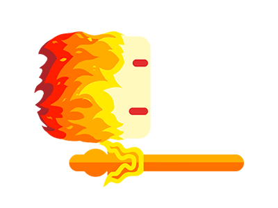 Flame animation Pikes.io