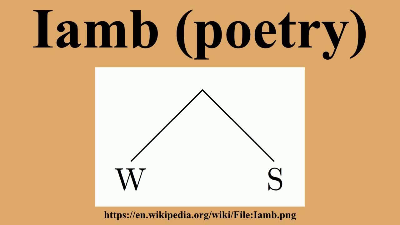 Iamb (poetry)
