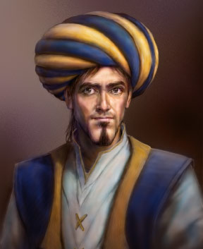 (Image on the right) Creative representation bust of Ibn al-Haytham made by  artist Ali Amro for 1001 Inventions to celebrate the UNESCO International  Year