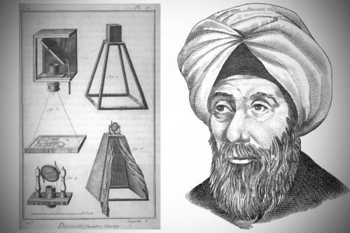 La cámara estenopeica inventada por Ibn al-Haytham (Alhacén) y una  recreación que