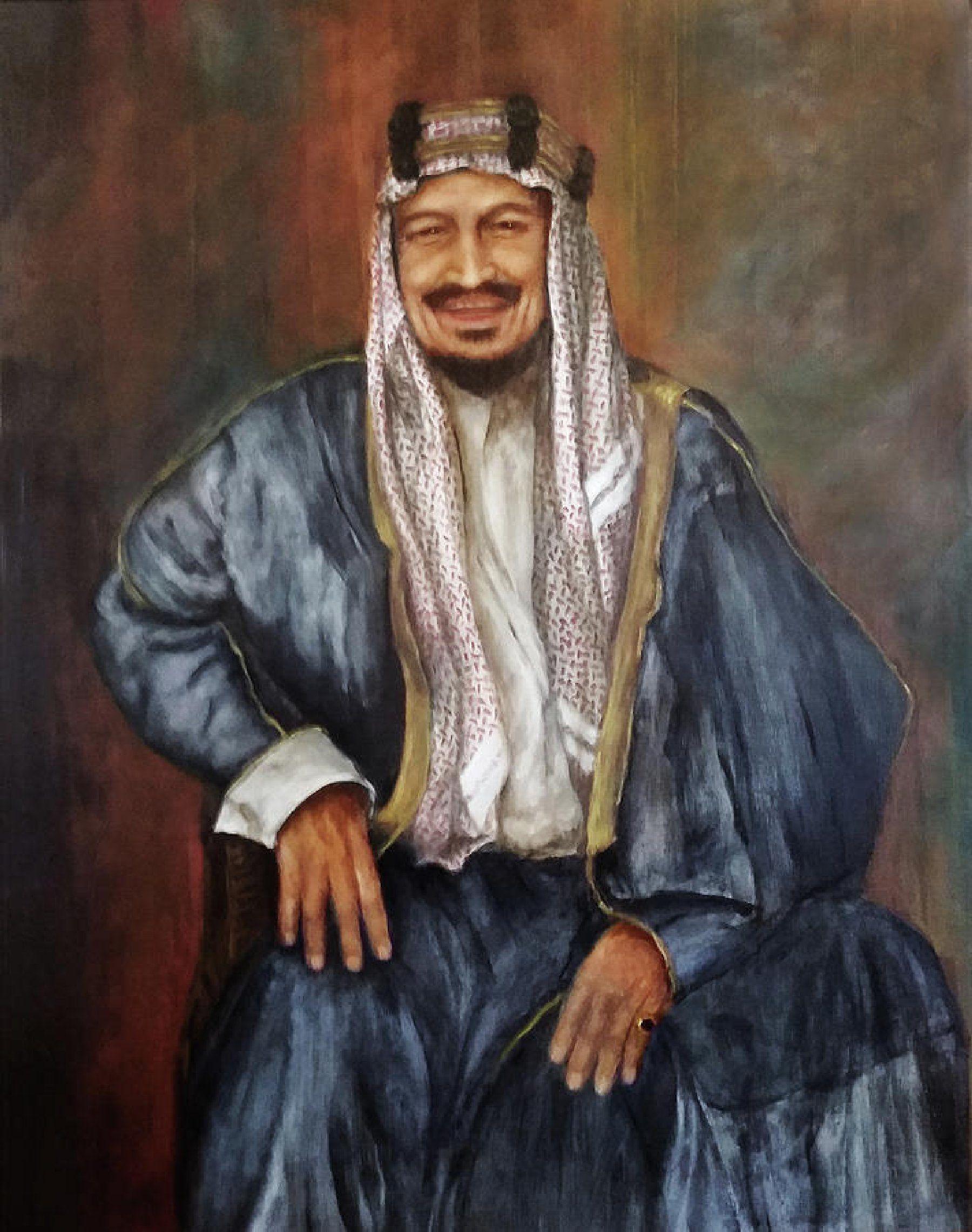 Abdulaziz Ibn Saud Painting by Sylvia Castellanos
