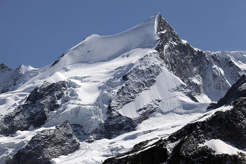 glacier, bergschrund, ice apron, Ochs, Kleines Fiescherhorn